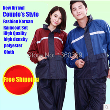 Korean Couple's Style Burberry_ men Womens Long Raincoats Motorcycle Sports Waterproof Girls Clothes Woman Rain Coat(China)