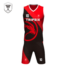China basketball jersey black and red, latest basketball black jersey design(China)
