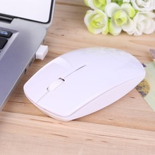 Hot 2.4G Wifi mouse USB wireless and mice 10M working distance ,super slim mouse rato For PC Laptop mause Free Shipping(China)