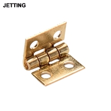 10 Pcs/lot Mini Cabinet Drawer Butt Hinge Copper Gold Small Hinge 4 Small Hole Hinge Hand Tools Hardware 10*8MM