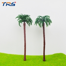 16CM high scale palm trees Cocos nucifera ABS plastic model palm trees for scenery train layout constructions(China)