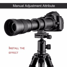 Buy 420-800mm F/8.3-16 Super Telephoto Manual Zoom Lens T-Mount Ring CanonEOS DSLR 600D 700D 650D 750D 1100D 1200D for $124.62 in AliExpress store