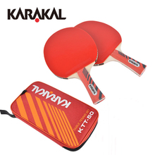 1 Pair Of Kar Quality Table Tennis Rackets Blade Rubber Pat Ping Pong Racket Fast Attack Pingpong Paddle Ping Pong Racquet KTT50