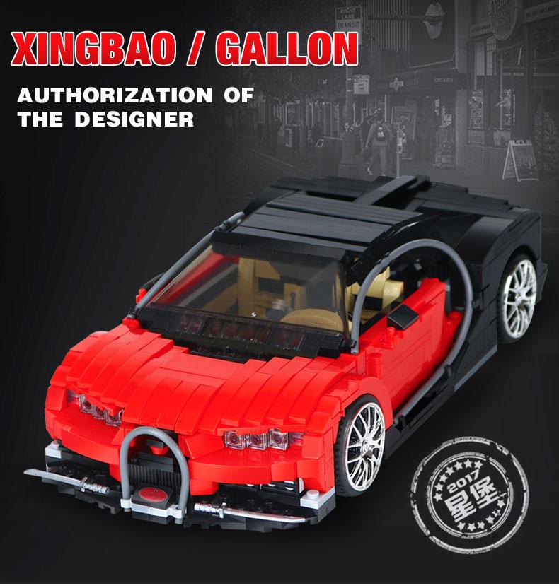 XingBao XB-03009 Bugatti Gallon Building Block 13