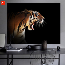 Modern Nordic Tiger Head Canvas Print Animal Photo Wall Picture Poster for Office Hotel Wall Decoration and livingroom Decor
