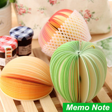 6 pcs/Lot Memo pad Apple fruit design notes notepad kawaii korean Novelty stationery office supplies School supplies 6413