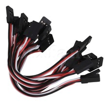 Mxfans Black Servo Extension Lead Wire Male to Male JR Interface Pack of 10