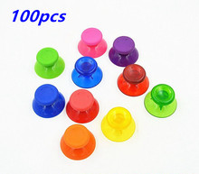 100PCS Colorful 3D Analog Joystick Replacement thumb Stick grips Cap Button for Microsoft XBOX 360 X-360 Controller Thumbsticks