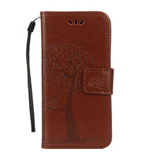 30pcs/lot For Huawei Honor 7X Cartoon Owl Hand Strap Wallet Leather Case Stand Tree Case With Card Slots For Huawei Honor 6A(China)