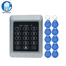 Hot Sale 1000 Users Access Controller with 125KHz RFID Keyfobs Single Door Control Independent Code Access Device Digital