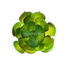 Artificial Succulent Real Touch Gem Lotus Flower Foliage Decor Pink Green(China)