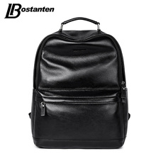 BOSTANTEN New Male Backpack Large Travel Backpack For Teenagers Cow Genuine Leather Backpack Men Leisure Bag Men Laptop Backpack