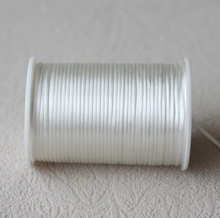 1mm White Satin Nylon Cord Knotting cord Jewelery supplies For Silicone Teething Necklace 100 Yards