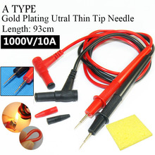 Ultra Fine Universal Probe Test Leads Cable Multimeter tester 1000V 20A and 10A thin tip needle digital Multi meter Gold Plating(China)