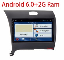 NEW!!2G RAM Android 6.0 2 DIN Car DVD GPS for Kia CERATO K3 FORTE 2013 2014 2015 2016 head unit radio video player wifi 1024*600