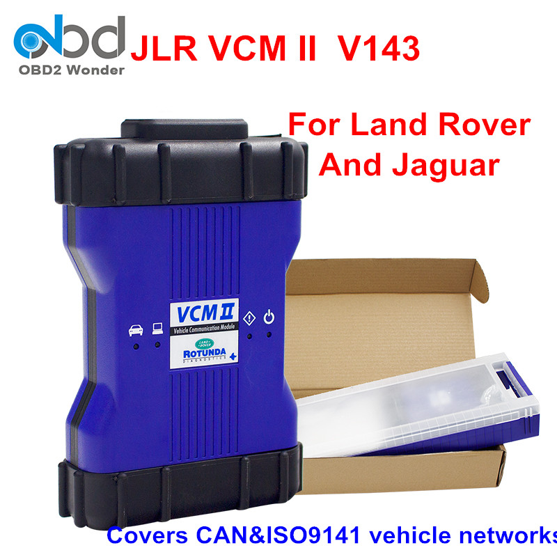 New Generation Newest V143 VCM2 JLR Blue Color OBDII Vehicle Diagnostic Tool Scanner VCM 2 For Land Rover/Jaguar VCM II(China)