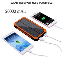 2018 Solar Power Bank 20000mAh Double USB Solar charger External Battery Portable Charger Bateria Externa Pack for smart phone(China)