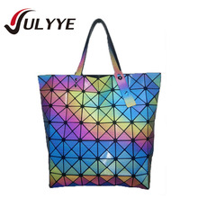 Band Designer Colorful 7Style Fashion BAO BAO Bag Mirror Geometry Sequins Laser Plain Handbag Folding Tote Women Shoulder Bags