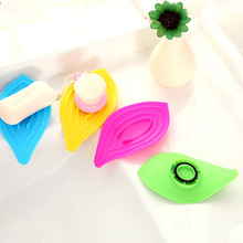 Kitchen Bathroom Accessories Sink Sponge Soap Holder Non-Slip Leaves Soap Box Drain And Clean Plastic Soap Dish