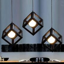 1 STCK Einfachen Stil Quadratische Kche Mahlzeitleuchter Schmiedeeisen Licht Lampenschirm Design Home Decoration