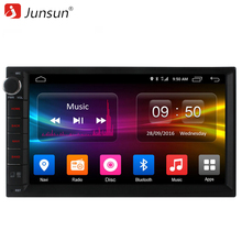 Junsun Universal 2 din CAR DVD Player Android 6.0 GPS Navigation 8 Core Support 4G Built in 32GB for vw multimedia auto radio(China)