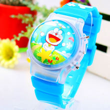 1 Piece Cute Doraemon Boy's Ball Shape LED Watches With Flashing Light Children Cartoon Character Kids Digital Wristwatches Hot