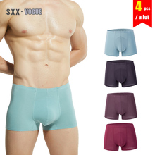 Buy Modal Mens Boxers Underwear 4Pcslot Man Panties Underpants Comfortable Breathable Male Boxer Shorts Sexy Men's Underwears for $11.94 in AliExpress store