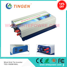 Windmill turbine 1500w 1.5kw grid tie inverter 3 phase ac input 45-90v dump load controller function ac output(China)