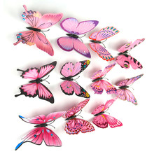 2017 New Arrival 12PCS 3D Butterfly Wall Sticker Room Decor Decal Applique Home Decoration Accessories Stickers