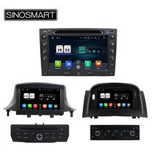 SINOSMART 2 Din Android 6.0 2G RAM 8 Core CPU, Android 7.1 1G RAM Car DVD GPS Player for Renault Megane 2003-2016 with Canbus