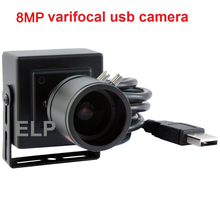 8MP High Resolution SONY IMX179 MINI HD Android/Linux/Windows 2.8-12mm varifocal manual zoom lens industrial Camera USB indoor(China)