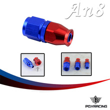 PQY RACING- High Quality PTEF AN8 AN-8 Straight REUSABLE SWIVEL TEFLON HOSE END FITTING AN8 PQY-SL6000-08-311