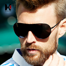 SHAUNA Foldable Men Rimless Polarized Sunglasses Classic Black Pilot Eyewear Blue Rays Protection UV400