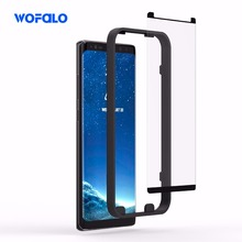 Screen Protector Wofalo 3D Curved Tempered Full Coverage Case Friendly HD Clear Protection Film for Samsung Galaxy Note 8(China)