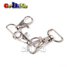 "5pcs 3/4""(20mm)Webbing Strap Metal Lobster Clasps Snap Hooks Swivel Bag Parts & Accessories Nickel Plated KeyChain#FLQ059-C"