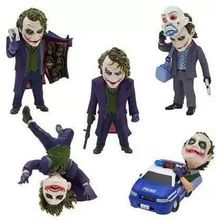 5Pcs/set DC Comics Model Batman Joker Clown 5 cm /1.97 Inch Toy Doll Model Action Figures Toys for Gifts(China)