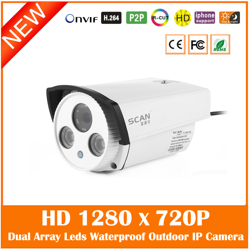 Hd Bullet Ip Camera 720p Infrared Night Vision Outdoor Waterproof Motion Detect Security Cctv Cmos Webcam Freeshipping Hot <br>