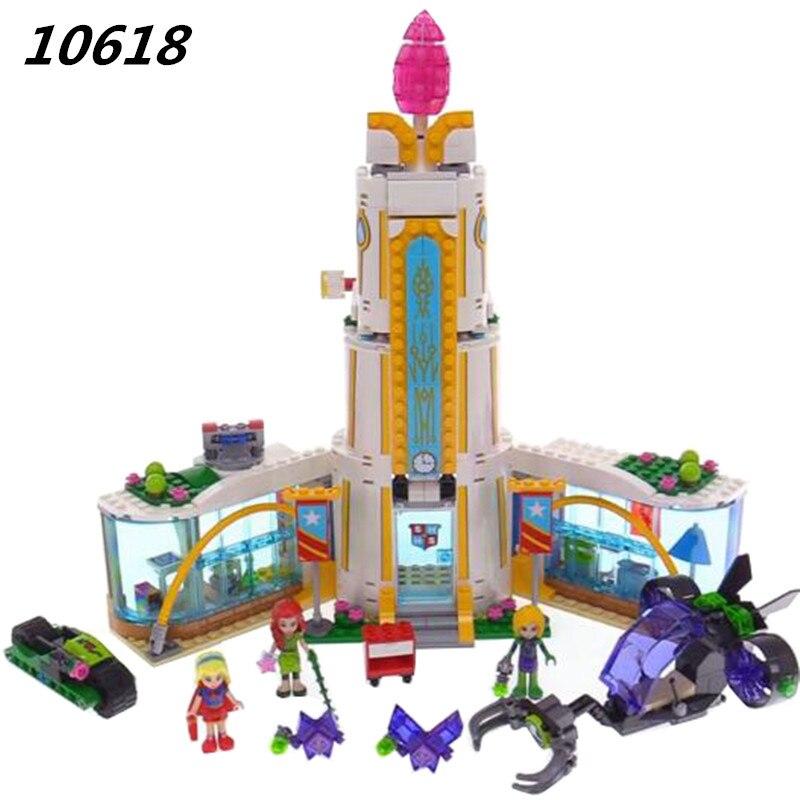 Super Heroine High School 719 Pcs Bricks Set Sale DC Power Girls Building Blocks DIY Bricks Toys For Children Compatible 41232<br>