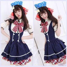 Anime cosplay lovelive love live cosplay Rin Hoshizora costume for women halloween dress onesie coffee shop princess French maid
