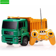 RC Truck 8 Channel Tipper Lorry Remote Control Truck Dumper High Simulation RC Project Tilting Cart Engineering Electronic Toys(China)