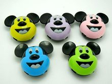 No Memory Card Reader MP3 Player Mickey Mouse mp3 Cute Cartoon Style 100pcs DHL Free Shipping