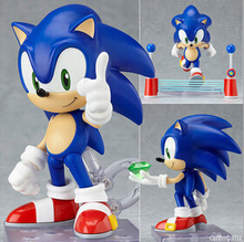 NEW hot 10cm Q version Sonic the Hedgehog mobile action figure toys collection christmas toy doll