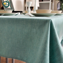 New style simplicity thicken pure countryside table cloth Fabric tablecloth cover long tea table cloth
