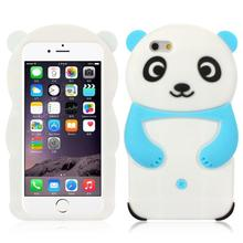 Discount !!!  New 2015 Fashion Unique Cute Panda Pattern Soft Sillicone Back Case Cover For iPhone 6  4.7 Inch Snow