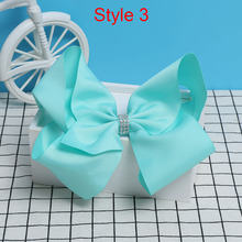 8 Inch Large Colorful Bow Hair Clip Big Bowknot Hairpins girl barrettes jojo Hair Accessories 2017 Newest(China)