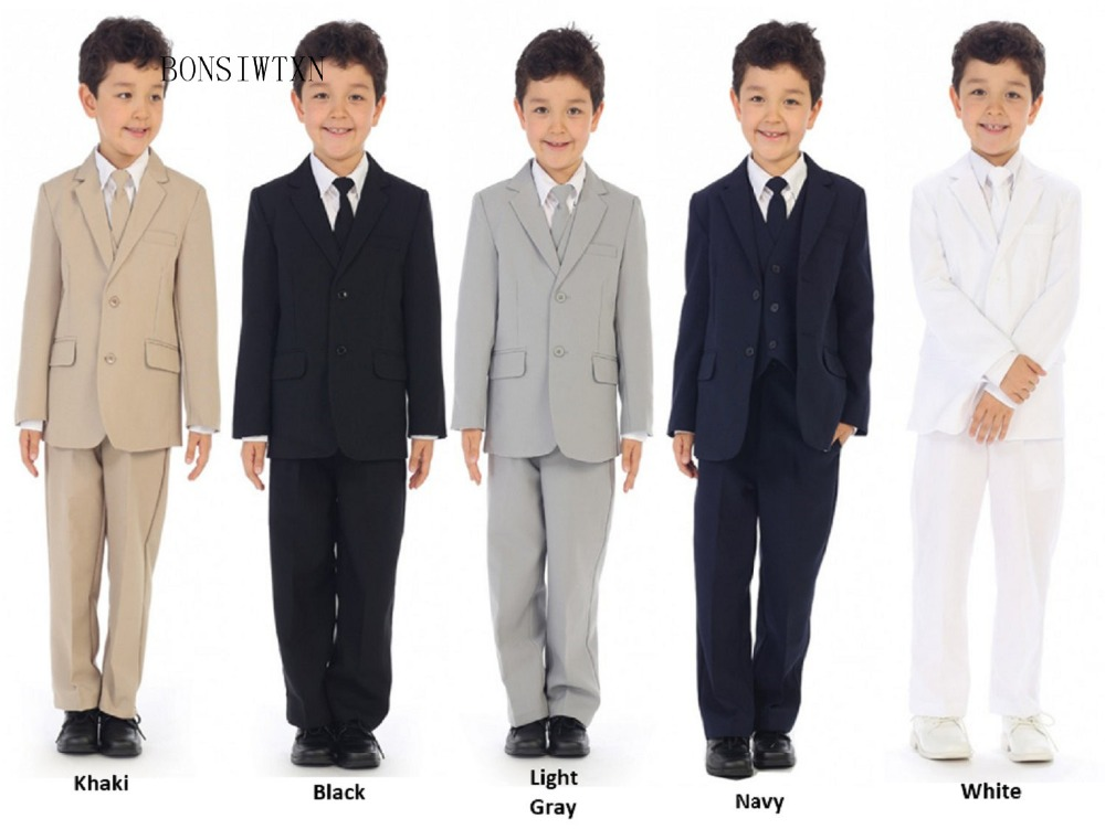 BONSIWTXN 2019 Suits Boy Formal Classic Costume Boys Suits for Weddings Kids Prom Suits Kids Blazers Boys Clothing Set