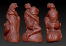 3D model for cnc 3D carved figure sculpture machine in STL file format naked woman (sexy woman)