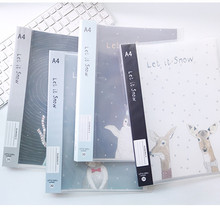 A4 Book Felt File Folder Durable Transparent Document Paper File Folders Stationery Store the Office & School Supplies Wholesale