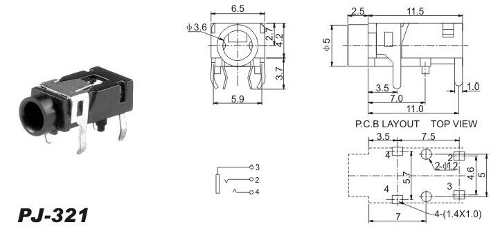5 Pin 3.5 Mm Female Jack Wiring Diagram from ae01.alicdn.com