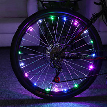 Bicycle Cycling Colorful Cool 20 LEDs Safety Spoke Wheel Light Road Bike Bicycle lights LEDS Tyre Tire Valve Caps Wheel Spokes